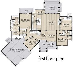 Find your dream modern-farmhouse style house plan such as Plan which is a 2504 sq ft, 3 bed, 3 bath home with 2 garage stalls from Monster House Plans. Garage House Plans, Ranch House Plans, Dream House Plans, House Floor Plans, Car Garage, Square House Plans, Open Floor House Plans, Dream Houses, Garage Doors