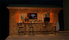 Outdoor Tiki Bars | UniqueGardenSheds.com | Roch - uniqueGardenSheds