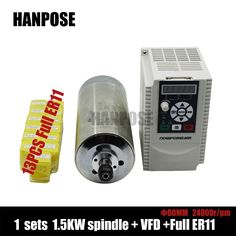 Best quality ER11 Spindle Motor 1.5kw Water Cooled Spindle & 1500W VFD & 13pcs er11 For CNC Milling #Affiliate