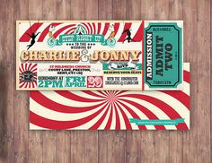 Hey, I found this really awesome Etsy listing at https://www.etsy.com/listing/266684951/circus-wedding-invitation-carnival