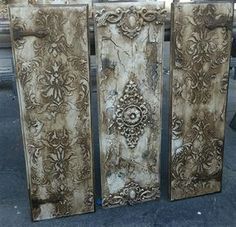 Michelle Butler Designs Set Of 3 Wall Panels Handpainted & Jeweled SHOP www.design : Michelle Butler Designs Set Of 3 Wall Panels Handpainted & Jeweled SHOP www. Design Set, Butler, Chalkboard Art Quotes, Iron Orchid Designs, Wall Decor Quotes, Design Fields, Paint Set, Paper Clay, Painting Techniques