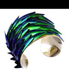 Beetle Wing Cuff! Beautiful!