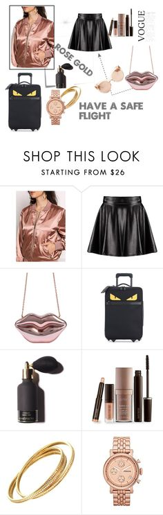 """""""Untitled #83"""" by shamamii-xx ❤ liked on Polyvore featuring Post-It, Boohoo, Fendi, Laura Mercier, FOSSIL and Linda Farrow"""