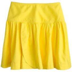 J Crew bright yellow swish skirt size 8 New without tags, never worn – a flouncy miniskirt and lightweight cotton – linen that's practically begging for a beach day. Size 8 J. Crew Skirts Mini