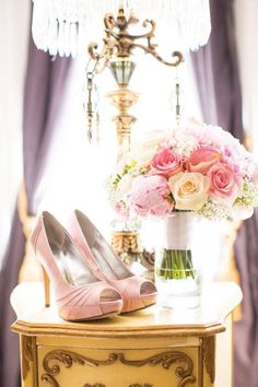 I think these are Chantel's shoes and flowers........