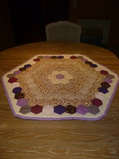Tapete de mesa en patchwork
