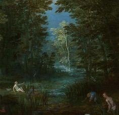 Latona and the Lycian Peasants, Jan Brueghel the Elder  detail