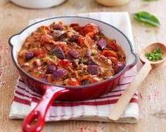 Poêlée de bœuf, aubergines et tomates façon moussaka