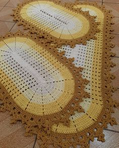 Crochet Table Mat, Crochet Tablecloth, Crochet Carpet, Tablerunners, Crochet Squares, Crochet Projects, Bohemian Rug, Crochet Patterns, Lily