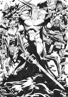 Nemesis_2000ad, Have to say that NO ONE is allowed to draw Nemesis apart from Kevin O'Neill but for Mike McMahon i could maybe make an exception....