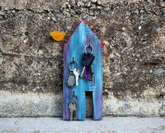 Key Rack Wall Key Holder Key Organizer Entryway by irineART