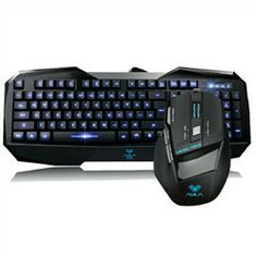Aula Killing the Soul Professional Wired Keyboard and Gaming Backlight Mouse Blue Light