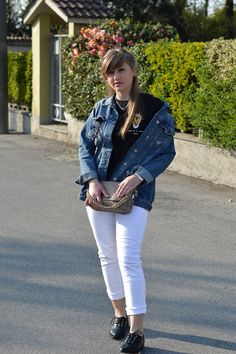White jeans & denim jacket: it's a good idea. - The Dress Sense
