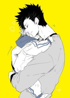kuroo, bokuro!child, hug, http://www.pixiv.net/member_illust.php?mode=manga&illust_id=51368916