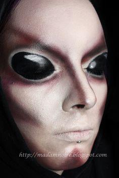 Creepy alien Halloween look.