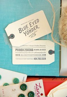 Business Cards + Photo: Krista Janos of  Blue Eyed Yonder