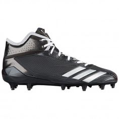 adidas adiZero 5-Star 6.0 Mid - Men's - Football - Shoes - Black/Silver  Metallic/Black-sku:BW1092