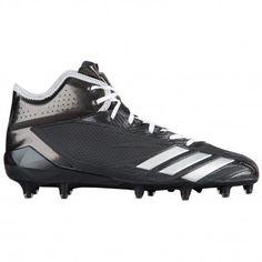 adidas adiZero 5-Star 6.0 Mid - Men's - Football - Shoes - Black/Silver  Metallic/Black-sku:BW1092
