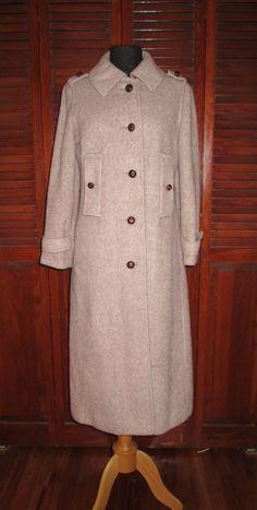 Classic 60's Burberry Style Wool Camel Trench by FlashyTrashHag, $85.00