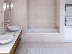 Image result for use a drop in tub in an alcove