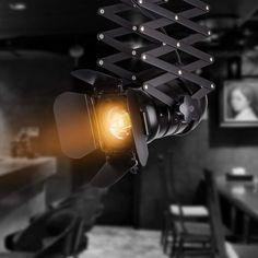 Industrial Style Vintage Decke Spotlight Fixture E27 Spot Light Industrial  Spot Wandleuchte Verstellbare Metallspur Pendelleuchte Für