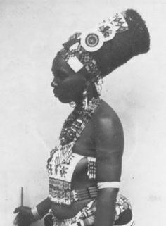 Beautiful Zulu woman( Southern Africa