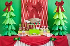 I LOVE this A Grinchmas Party, especially the paper cone trees!