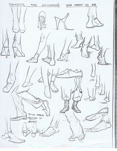 Character and Creature Design Notes: Foot Reference