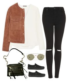 """""""Untitled #1965"""" by humlan17 ❤ liked on Polyvore featuring Theory, MANGO, Vans, Topshop, Rebecca Minkoff and Ahlem"""