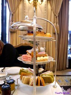 Savories & deserts, Hôtel George V high tea, Paris.