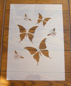 Butterfly Stencil Mask Reusable PP Sheet for Arts & Crafts Bee Stencil, Cool Stencils, Snowflake Stencil, Butterfly Stencil, Line Art Flowers, Flower Art, Stencil Patterns, Stencil Designs, Arte Hippy