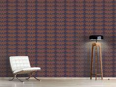 Design #Tapete Pünktchen Blätter