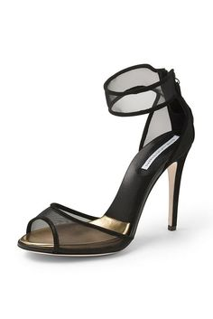 Pin for Later: Trouvez chaussure à votre pied en cliquant ici ! Transparentes Diane von Furstenberg Rae Mesh Sandals (144,51 € au lieu de 289,01 €)
