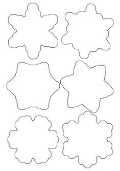 paper snowflake template printable for children outline templates