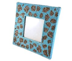 MOYNA New York Large Picture Frame With Beaded Leopard Print #MOYNANewYork #home #wholesale #shoptoko bead leopard, picture frames, pictur frame, leopard prints