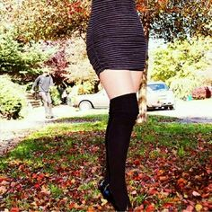 !!FREE SHIPPING!! BLACK THIGH HIGHS PRICE HAS BEEN REDUCED TO PAY YOUR SHIPPING FEE    Warm in cold weather for wearing with skirts, shorts, boots, etc. Or wear under your pants in cold cold weather. Solid black Peony and Moss Accessories Hosiery & Socks