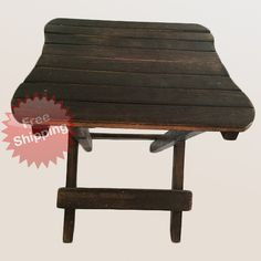 The #wooden #table is perfect for the patio or pool, holding #laptops, books, sunglasses, and more. #Folds flat for out-of-the-way storage, making it the perfect accessory for #camping or fishing trips. Use it in tight spaces, like dorm #rooms where space is at a premium.