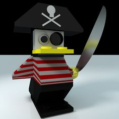 LEGO Penguin: 'cos Penguins have much more than a P in common with... Pirates!