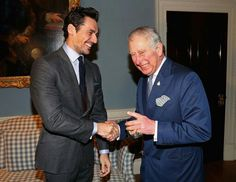 #DavidGandy and The Prince of Wales at the @Style4Soldiers Christmas Reunion Party 🎄