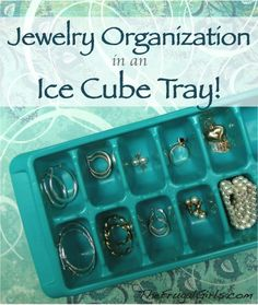 Jewelry Organization… in an Ice Cube Tray!