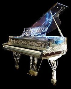 Artcase, Gary Pons SY 160 baby grand piano made from transparent, altuglass and stainless steel. Specialist steinway piano dealer, trader and wholesaler. Sound Of Music, Music Is Life, My Music, Piano Art, Piano Music, Music Desk, Mundo Musical, Piano For Sale, Old Pianos