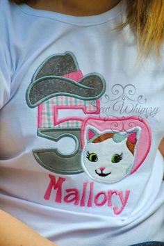 Sheriff Callie inspired birthday shirt or one piece bodysuit - Cowgirl cat birthday shirt