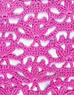 Crochet y Dos agujas: Punto crochet calado #11