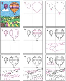 Draw a Hot Air Balloon · Art Projects for Kids rnrnSource by vferrantello Drawing Lessons For Kids, Art Drawings For Kids, Balloon Painting, Balloon Balloon, Kindergarten Art Projects, 6th Grade Art, Art Curriculum, Art Activities For Kids, Art Lessons Elementary