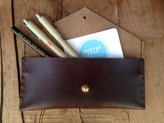 Leather Pencil Case by HunterPassLeather