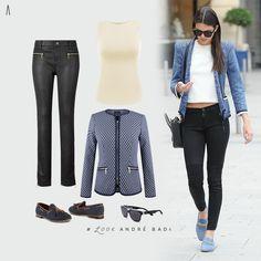 Ya que el clima en un mismo día puede cambiar, es recomendable llevar prendas que puedan ser versátiles durante todo el día. Opta por chaquetas que al quitarlas te den un look más fresco para el cambio de clima.