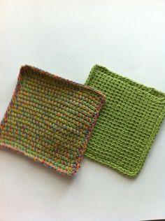 Tunisian Crochet Hot Pad Set Makes Great Unique Kitchen Gift | Thecrochetcubby - Knitting on ArtFire