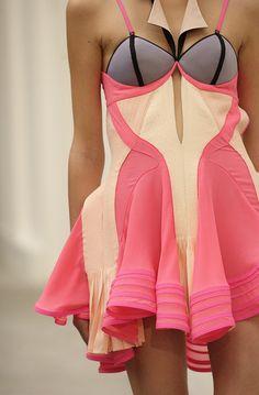 Balenciaga // Spring 2004 // colorblock // dress