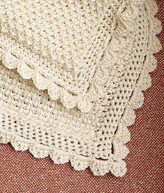 Smocked Elegance Baby Blanket by Darla J. Fanton. Tunisian crochet.