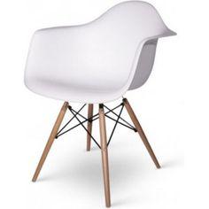 Ik vond dit op Beslist.nl: DAW Chair White DAW stoel wit